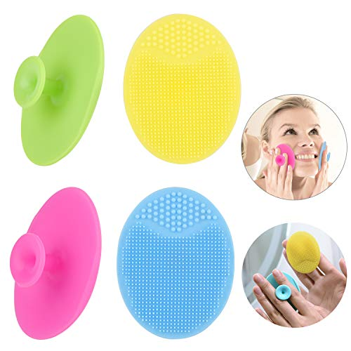 Face Scrubber,Soft Silicone Facial Cleansing Brush Pad Exfoliator Scrub Scrubby for Massage Pore Blackhead Removing Exfoliating-Unique Cool Fun Christmas Gift Present for Girl Sister Best Friend Women ()