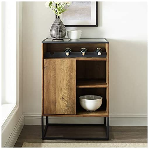Home Bar Cabinetry Walker Edison Mid Century Modern Wood and Glass Bar Cabinet Entryway Serving Storage Cabinet Doors Dining Room Console… home bar cabinetry