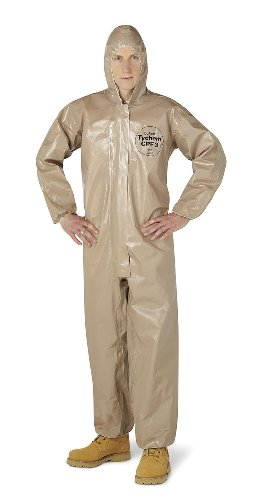 - DuPont Chemical Resistant Coverall 2X-Large Tan 4.4 Oz/Yd2 Tychem CPF 3 Fabric Attached Hood Elastic Wrists Elastic Ankles storm Flap Zipper 1Case/6Each