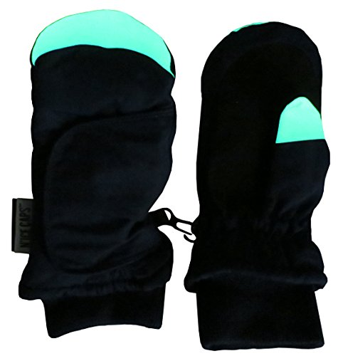 - N'Ice Caps Kids Easy On Wrap Waterproof Thinsulate Winter Snow Mitten (5-6 Years, Glows in the Dark/Navy)
