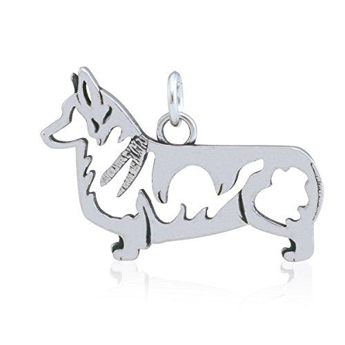 (Dazzling Paws Jewelry Sterling Silver Pembroke Welsh Corgi Pendant, Body)
