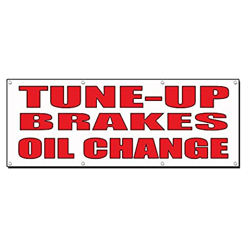 Tune-Up/Brakes/Oil Change Auto Body Shop Car Banner Sign 8' X 4' /W 8 Grommets - Auto Brake Tune