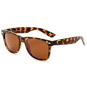 Tortoise Frame Inexpensive Unisex Polarized Retro Sunglasses