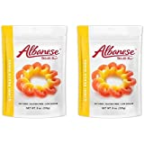 Albanese Worlds Best Gummi Peach Rings Resealable Stand Up Pouch 8 oz. (Pack of 2)