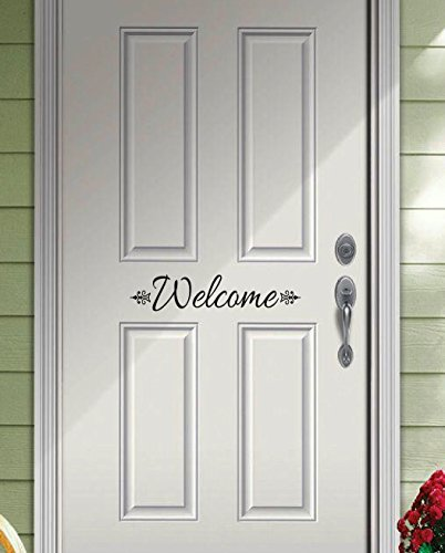 Digiflare Graphics Welcome Decal - Decorative Front Door Vinyl Decal Sticker Art - Custom Colors by Digiflare Graphics