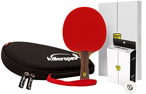 Killerspin Jet 800 Combo: Table Tennis Paddle with Paddle Case and Six 4 star Balls 110-12