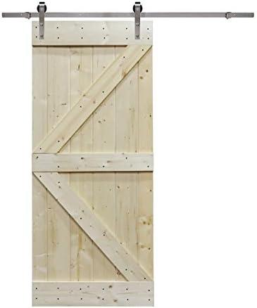 6 ft Puerta Corredera de acero inoxidable conjunto de Hardware con ...