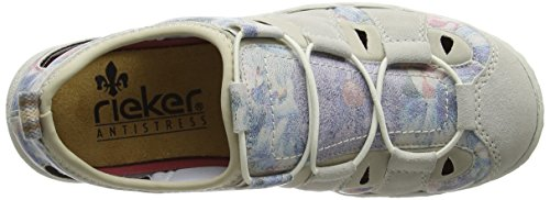 Women Low top L0561 Baskets Blanc multi 80 ice Basses Rieker beige Femme blau Z5qOxnwt
