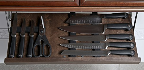 Under Cabinet Knife Block -- 2 Sizes & 6 Finishes Available by The Drop Block