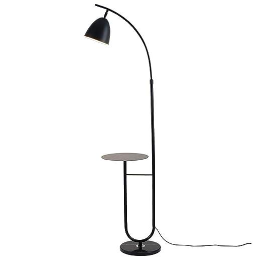Lámpara de pie De Hierro para Sala De Estar con Bandeja De ...