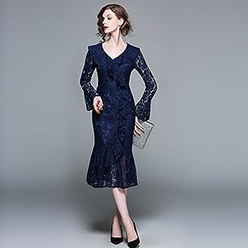 JIALELE Vestido Fiesta Mujer,De Fiesta,Vestidos Para Mujer Vestido Azul, Altavoz,