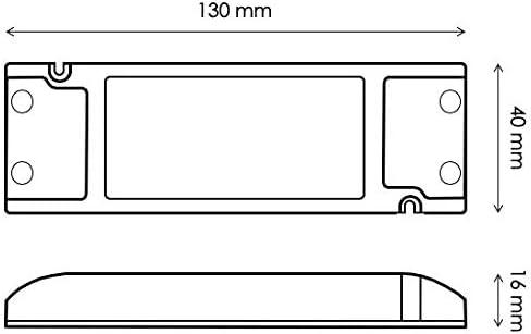 HuaTec Eaglerise Transformador LED 12V 30W Tensi/ón Constante Ultra Fina para Tira LED Alimentador Fuente de Alimentaci/ón LED