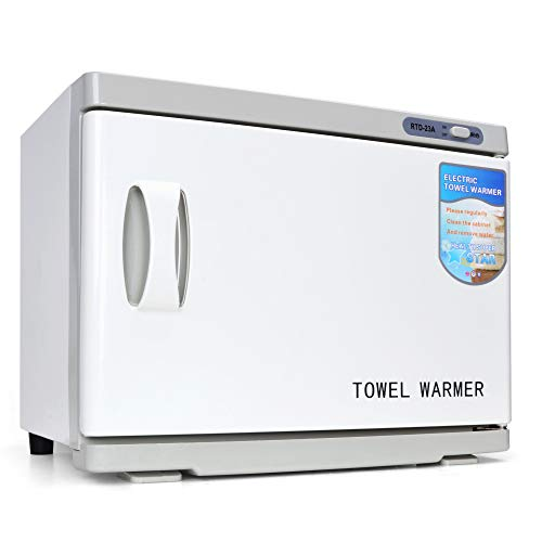 Professional Towel Warmer Cabinet, UV Sterilizer 2 In 1, Use for SPA, Hair Beauty, Salon and Home, 23 L High Capacity, Hold 40-60 Towels