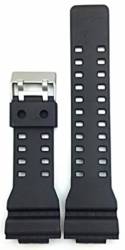 16mm Black Polyurethane(PU) G Shock Style Watch Band for sale  Delivered anywhere in USA