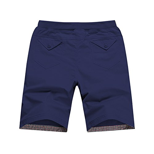 Cheap Chiffoned 2018 Summer Blue Cotton Shorts Men Fashion Boardshorts Breathable Male Casual Comfortable Plus Size Bermudas Masculina