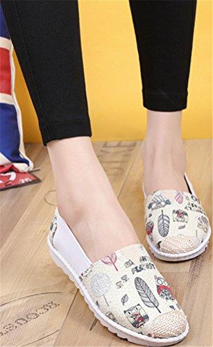 Satuki Canvas Instappers Voor Dames, Trek Op Casual Comfort Fashion Sneakers Platte Schoenen Wit