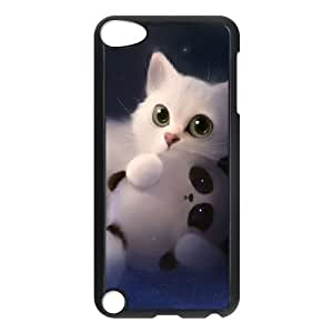 LZHCASE Design Phone Case Lovely Cat For Ipod Touch 5 [Pattern-1]