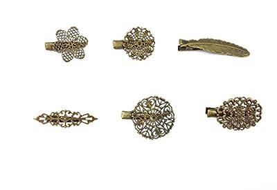 yueton Pack of 6 Vintage Leaf Flower Shape Hair Clip Headwear Lady Hair Accessories