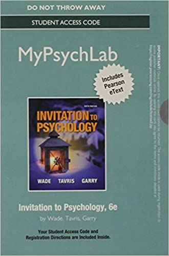 Amazon new mypsychlab with pearson etext standalone access new mypsychlab with pearson etext standalone access card for invitation to psychology 6th edition 6th edition fandeluxe Image collections