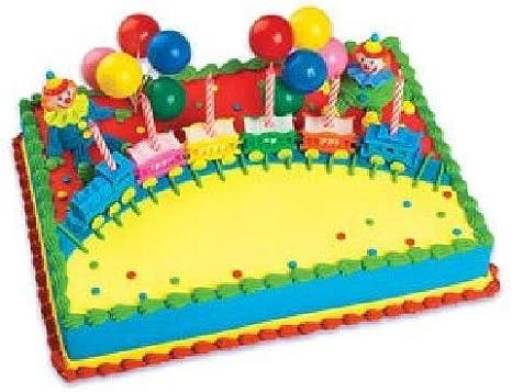 24 Glaseado Cupcake Cake Toppers Decoración Circo Tren Animales Payaso