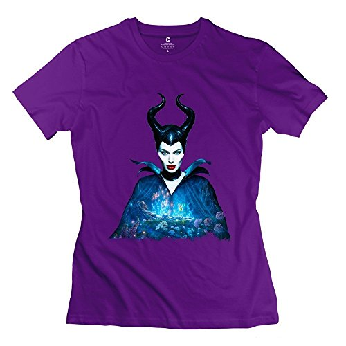 Breaking Bad Costumes For Sale (Women's Maleficent Costume Short Sleeve Tshirts Size XL Purple)