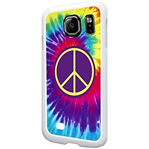 Tie Dye with a Purple Peace Symbol-  TM Samsung Galaxy s7 White Plastic Phone Case Made in the USA Sales