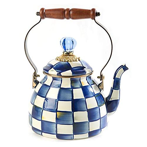 MacKenzie-Childs Royal Check Tea Kettle – 2 Quart