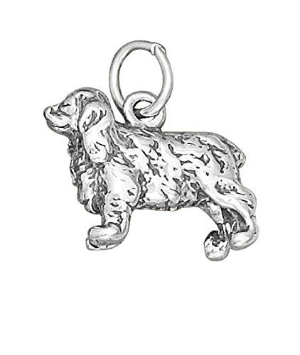 Sterling Silver 3D Cocker Spaniel Pet Dog Breed Charm