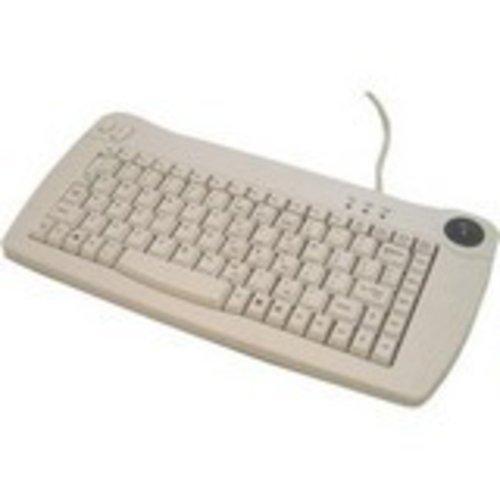 - Mini USB Keyboard with Trackball (White)