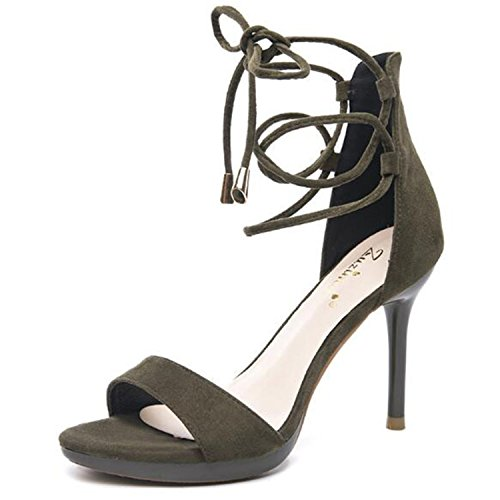 cross sexy 2018 women office thin newest balck tied lady sandal sandal 4 9cm fashion heel night women sandals club high BIFqx4w5F