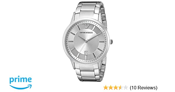 Amazon.com: Emporio Armani Mens AR2478 Dress Silver Watch: Emporio Armani: Watches