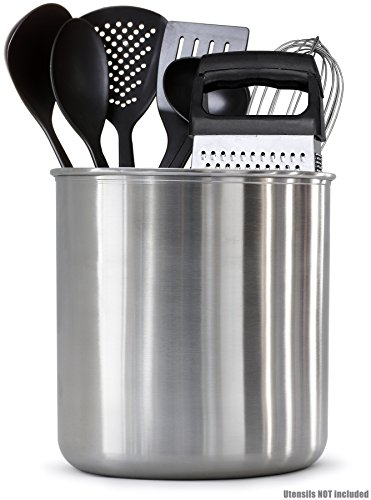 "Estilo EST0286 Stainless steel Utensil Holder Jumbo - 7 X 7"" ,,"