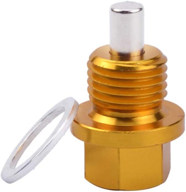 Glamsville M12 M14 M16 M20 Magnetic Oil Sump Nut Drain Plug Screw for Honda Mazda Suzuki Accessories Black M12*1.25