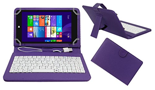 Acm USB Keyboard Case Compatible with Notion Ink Cain 8 Tablet Cover StandStudy Gaming Direct Plug   Play   Purple
