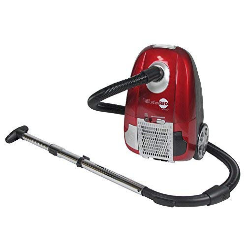 Atrix – AHC-1 Turbo Red Canister Vacuum – Portable Vac Cleaner w/ 6 Quart HEPA Filter & Variable Speed (Renewed)