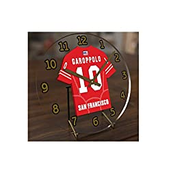 FanPlastic Jimmy GAROPPOLO 10 SAN Francisco 49ers Desktop Clock - National Football League Legends Edition !!