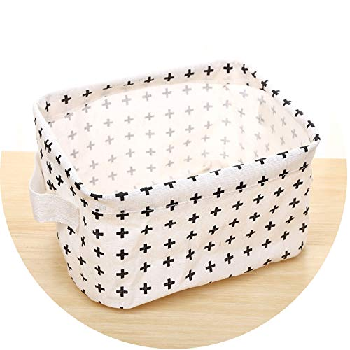 Foldable Non-Woven Fabric Desk Top Cosmetics Storage Box Office Stationery Storage,14