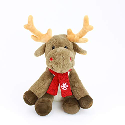 (Gitzy Plush 12 Inch Holiday Moose - Stuffed Animal for Kids - Holiday Decoration - Gray)