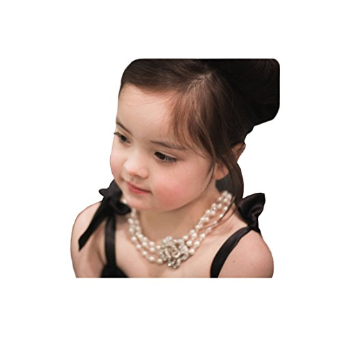 Holly Golightly Necklace Costumes (Necklace, Girls' Size, Audrey Hepburn Breakfast at Tiffany's, Multi Strand Pearl Necklace (2 - 7 yo))