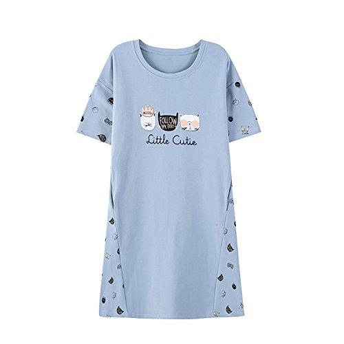 Vopmocld Big Girls Adorable Shorts Sleeve Nightgown Cute Cats Summer Pajamas
