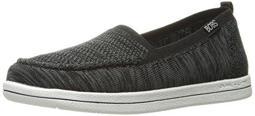 Skechers Bobs Womens Super Plysj-gritty Knitty Flat Svart