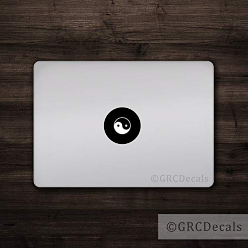 f/ácil de Poner y Quitar Adhesivo para port/átil con Logo de Apple Mac EricauBird Yin Yang