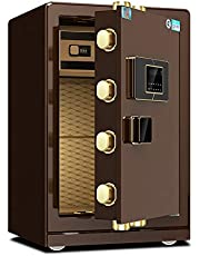Hotel Safes Digital Safe Box Electronic Steel Keypad 2 Manual Override Keys Protect Money Jewelry Passports for Home Business Home Office Hotel (Color : Coffee, Size : 43x38x60cm)