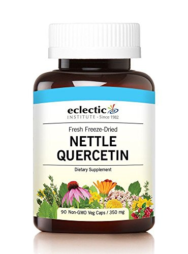 Eclectic Nettles Quercetin Freeze Dried Vegetables with Glass, Blue, 90 Count (Freeze Dried Leaf Nettle)