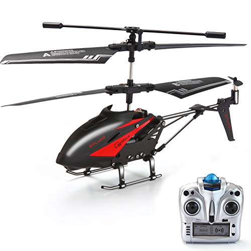RC Helicopter, GoStock Remote Control Helicopter with Gyro and LED Light 3.5 Channels Alloy Mini Helicopter Micro RC Helicopter Toy for Kids & Adult Indoor and Outdoor (S880A) (Fast Remote Control Helicopter)