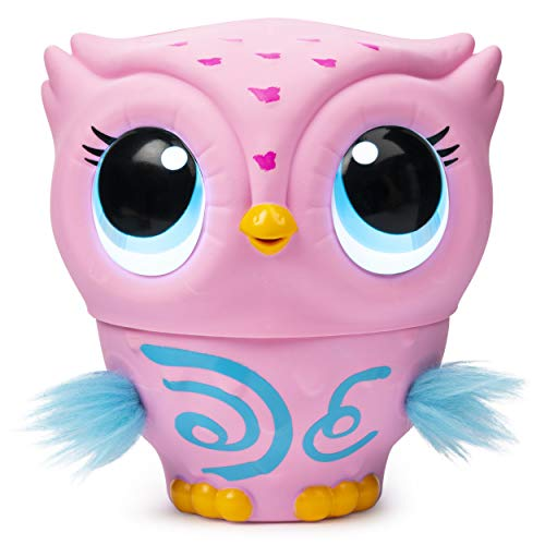 Owleez, Flying Baby Owl Interactive Toy with Lights & Sounds (Pink), for Kids Aged 6 & Up (Real Good Toys)