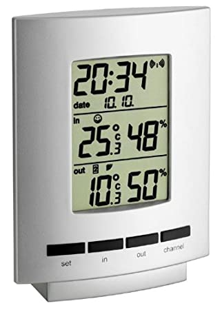 Thermo Wetterladen it 30 54 Funk Hygrometer Maxim IiSilber 3013 tQxBohrsdC