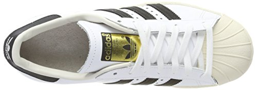 Adidas Trainers Black Letaher 80s Chalk White White Superstar Mens xxqTHB