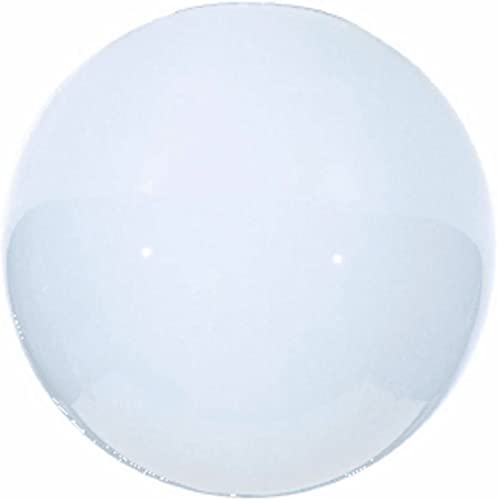 8-Inch White Neckless Glass Shade – 3-7 8-Inch Fitter Opening