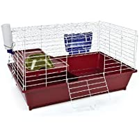 Petface GuineaPig/Small Rabbit Home, Burgundy